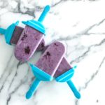 blackberry vanilla protein popsicles
