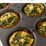 sweet potato egg cups in muffin tins