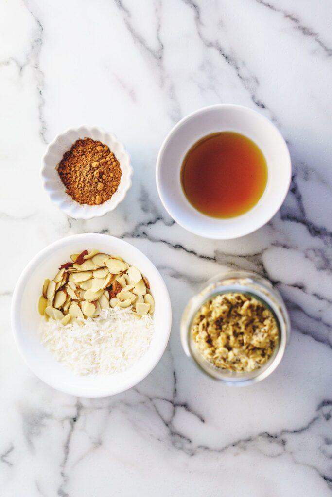 almond joy overnight oats ingredients