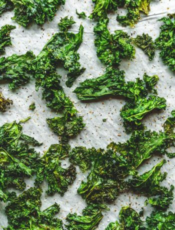 kale chips on sheet pan