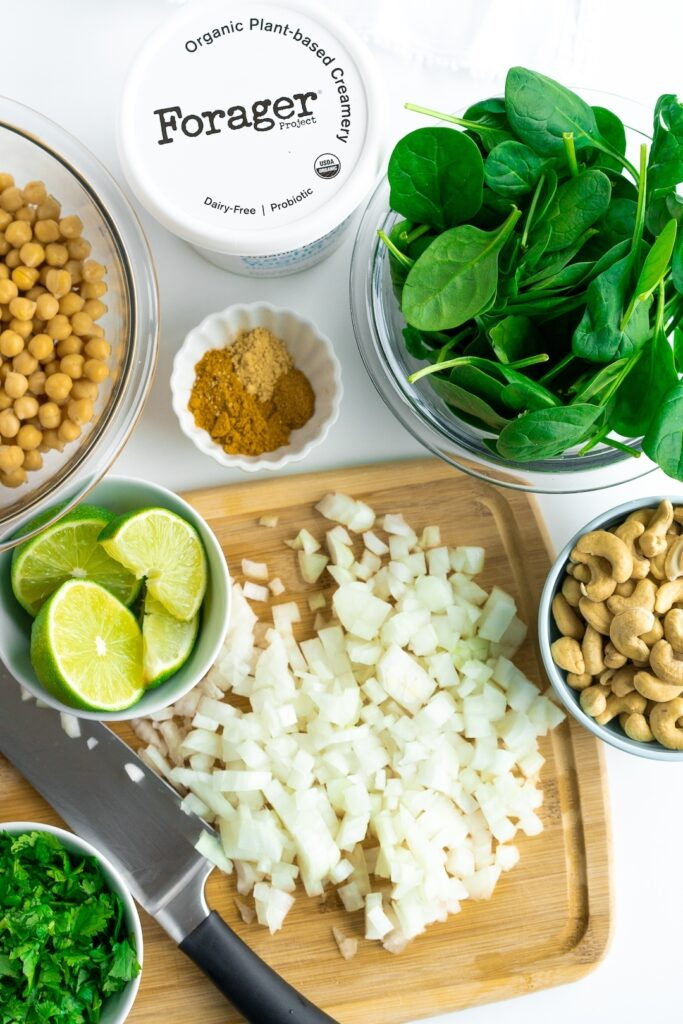 Chelsea Dishes - ingredients for vegan curry recipe