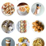 collage of healthy fall snack ideas
