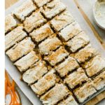 sheet of healthy carrot cake