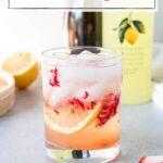 glass of limoncello spritz